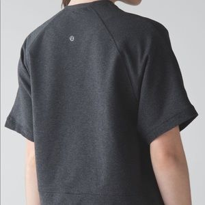 Lululemon Blissed Out Cropped Short Sleeve Sweater
